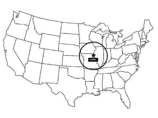 Distribution Area Map